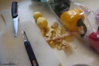 Kartoffeln und Paprika für den Geschmack