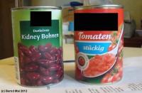 Kidneybohnen und Tomaten
