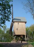 Die Bockwindmühle - eine Seitenansicht